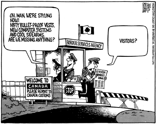 Canadian Customs Cartoon