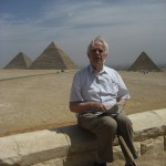 Image of Hans Erik Deckert Near the Pyramids