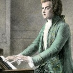 Portrait of Wolfgang Amadeus Mozart at the keyboard