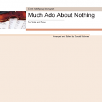 Korngold Much ado About Nothing Viola McInnes Score