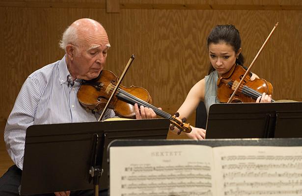 Joseph Silverstein Rehearsal