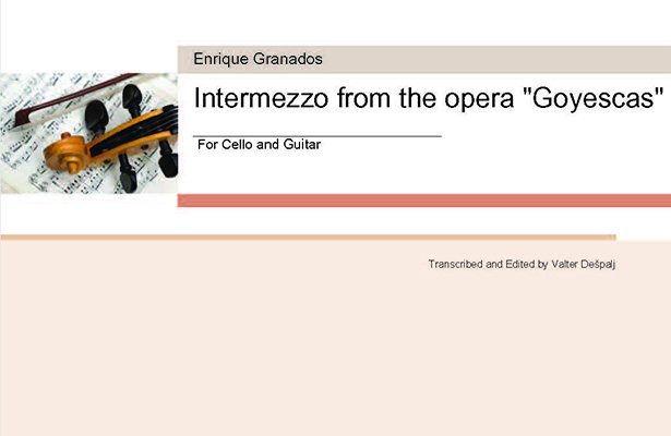 Granados Intermezzo Cello Despalj Featured