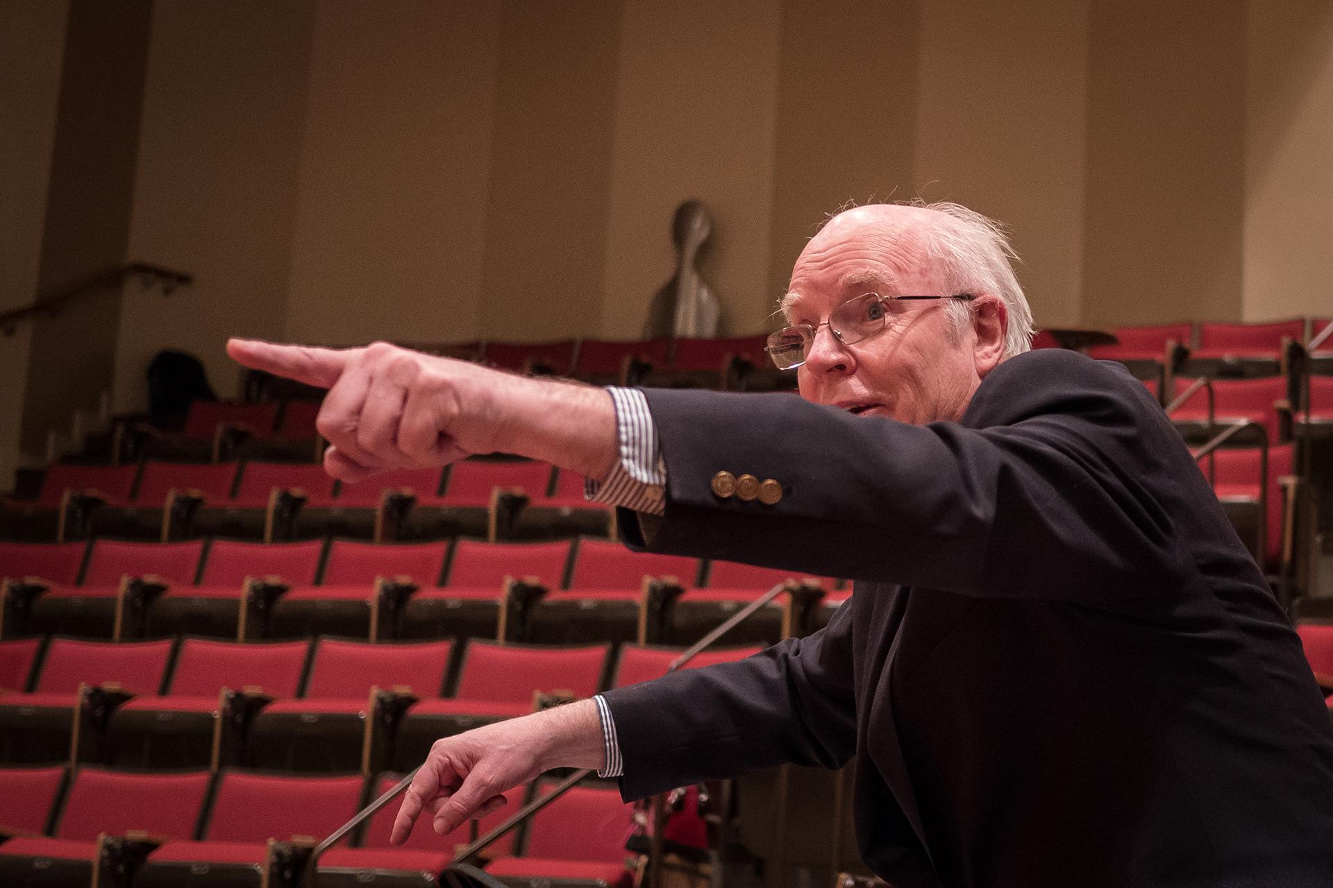 Hans Jensen at the NU Cello Ensemble Rehearsal