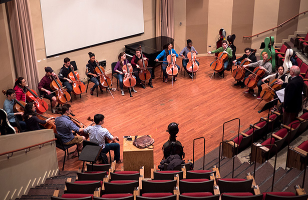 NU Cello Ensemble Rehearsal
