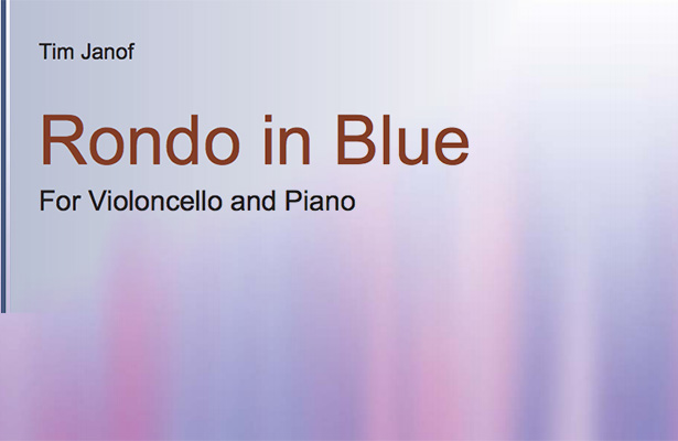 Tim Janof Rondo in Blue