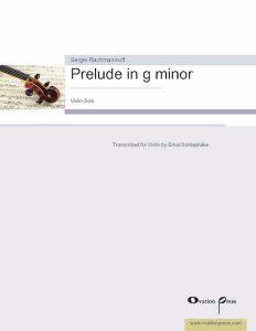 Rachmaninoff Prelude Violin Schliephake Score
